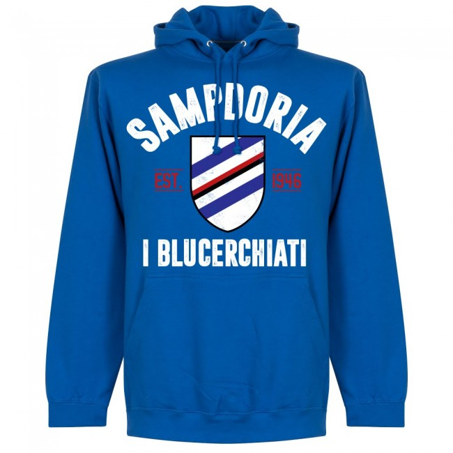 Sampdoria Established Hoodie - Royal - Terrace Gear
