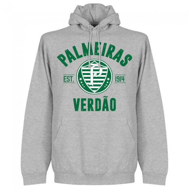 Palmeiras Established Hoodie - Grey - Terrace Gear