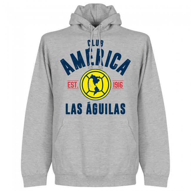Club America Established Hoodie - Grey - Terrace Gear