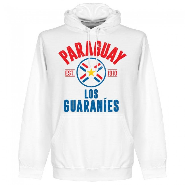 Paraguay Established Hoodie - White - Terrace Gear