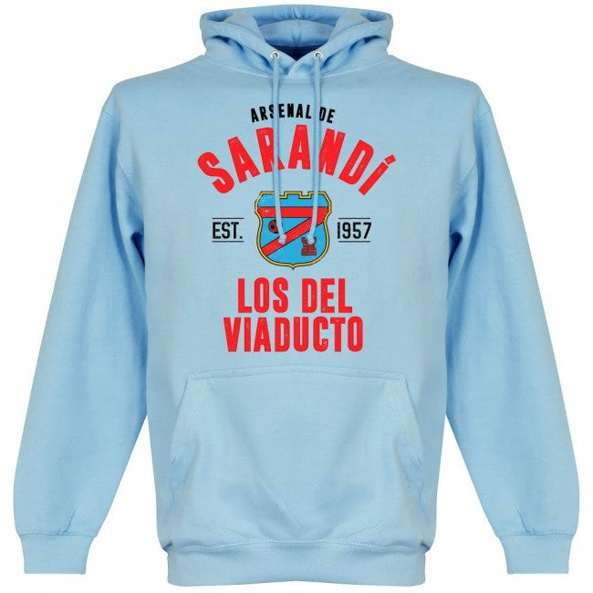 Arsenal Sarandi Established Hoodie - Sky - Terrace Gear