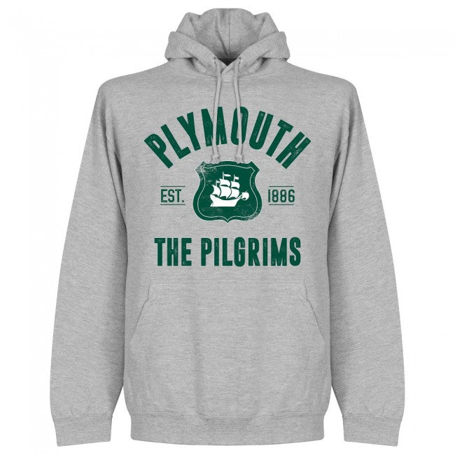 Plymouth Established Hoodie - Grey - Terrace Gear