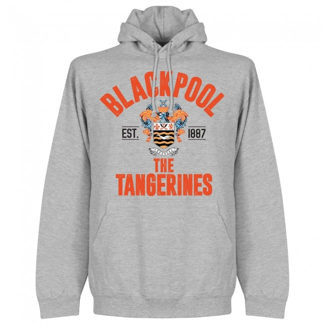 Blackpool Established Hoodie - Grey - Terrace Gear