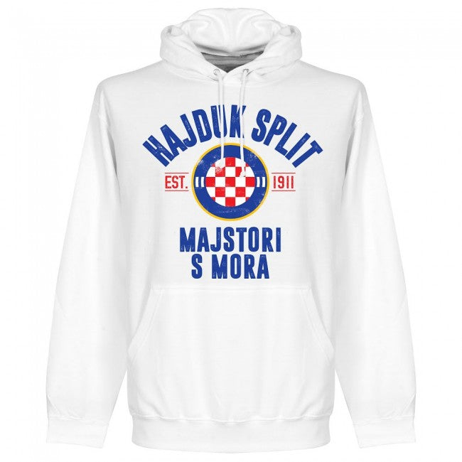 Hajduk Split Established Hoodie - White - Terrace Gear