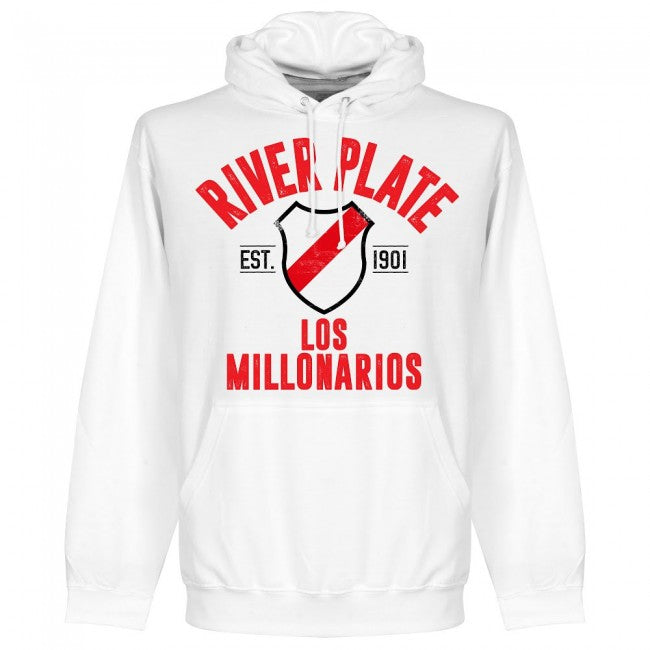River Plate Established Hoodie - White - Terrace Gear