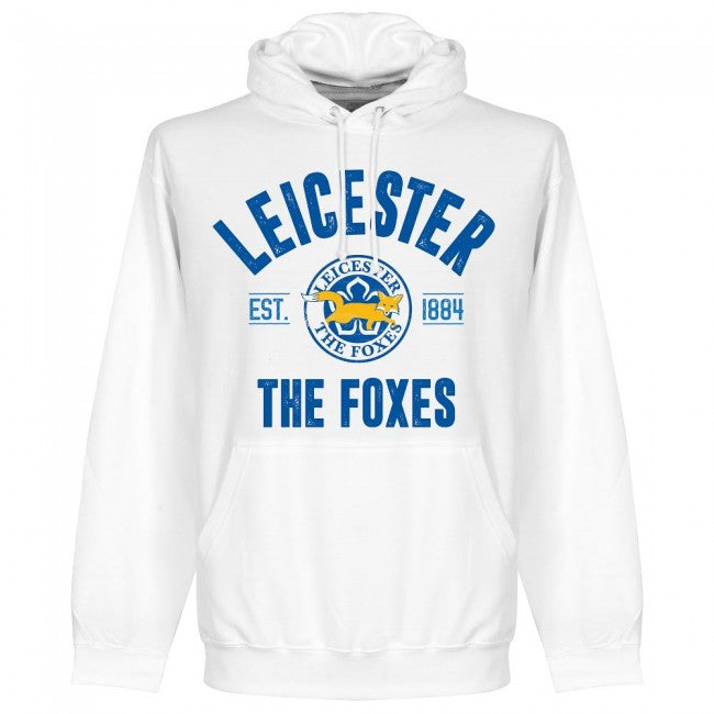 Leicester Established Hoodie - White - Terrace Gear