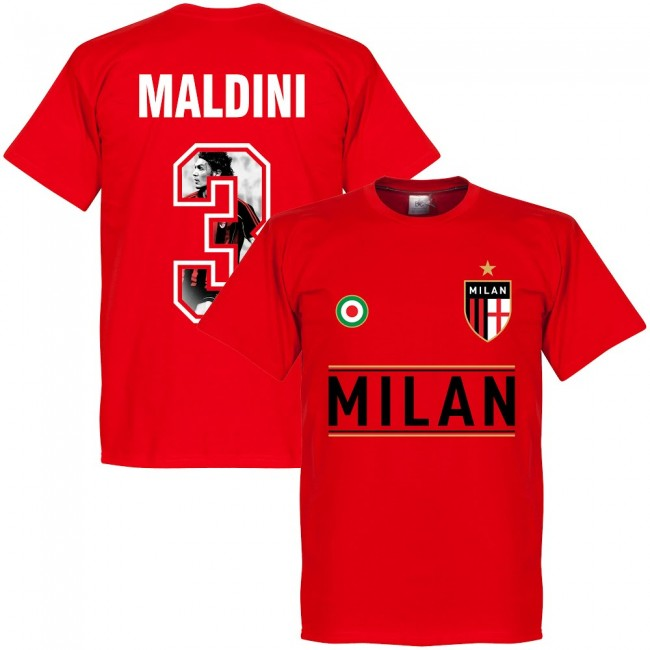 AC Milan Maldini 3 Gallery Team T-Shirt - Red