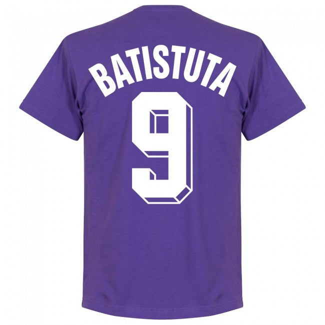 Fiorentina Batistuta 9 Team T-Shirt - Purple