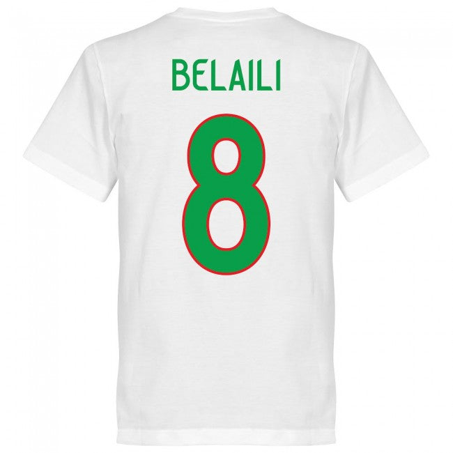 Algeria Belaili 8 Team T-Shirt - White