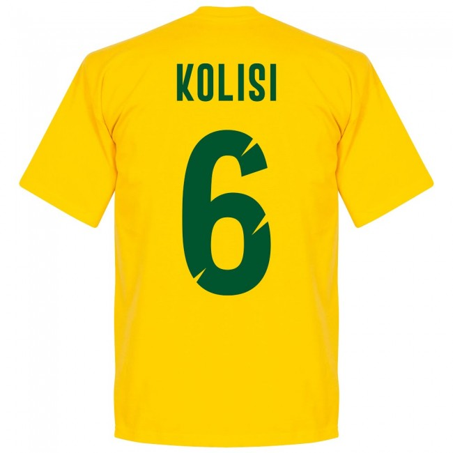 South Africa Rugby Team Kolisi 6 T-shirt - Yellow
