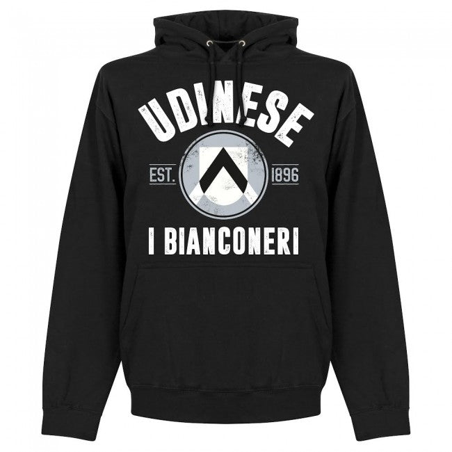 Udinese Established Hoodie - Black - Terrace Gear