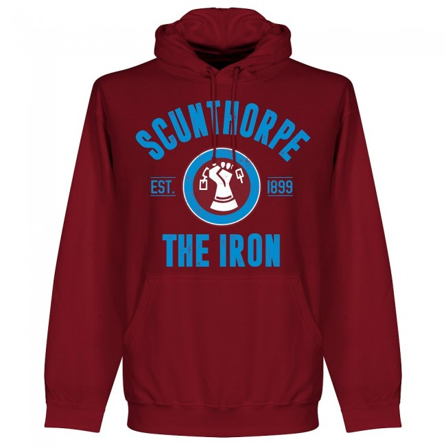 Scunthorpe Established Hoodie - Maroon - Terrace Gear