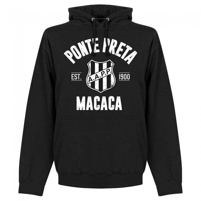 Ponte Preta Established Hoodie - Black - Terrace Gear