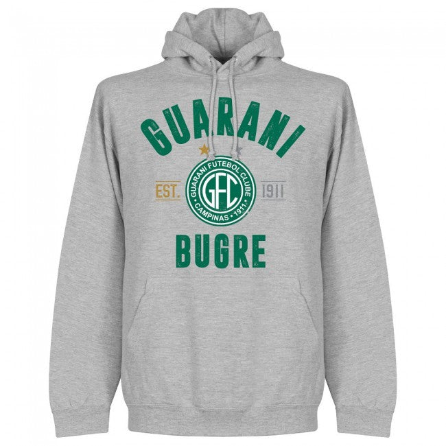 Guarani Established Hoodie - Grey - Terrace Gear