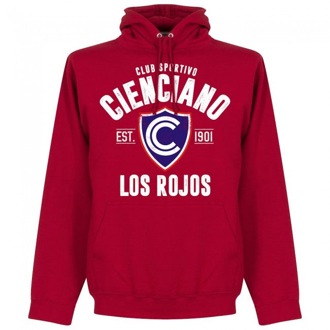 Cienciano Established Hoodie - Red - Terrace Gear