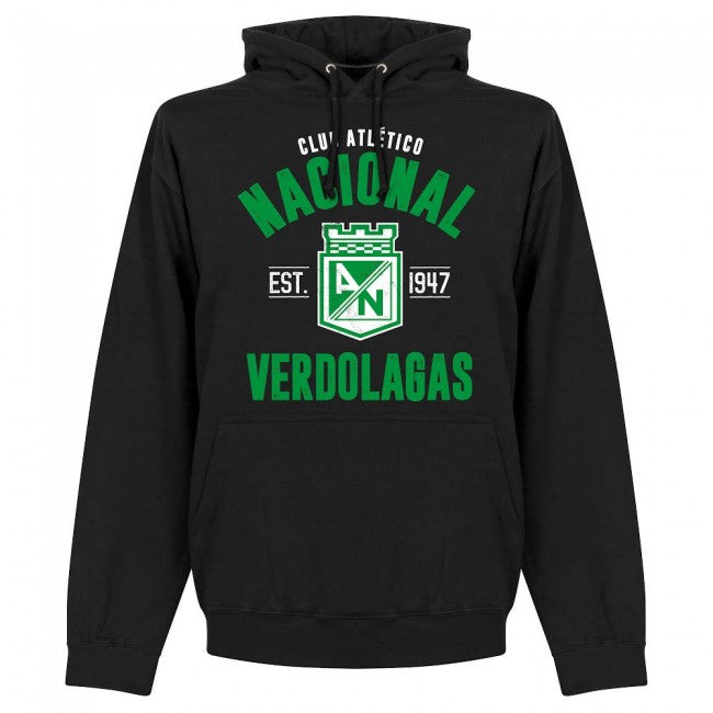 Atletico Nacional Established Hoodie - Black - Terrace Gear