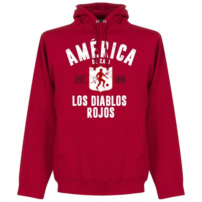 America de Cali Established Hoodie - Red - Terrace Gear