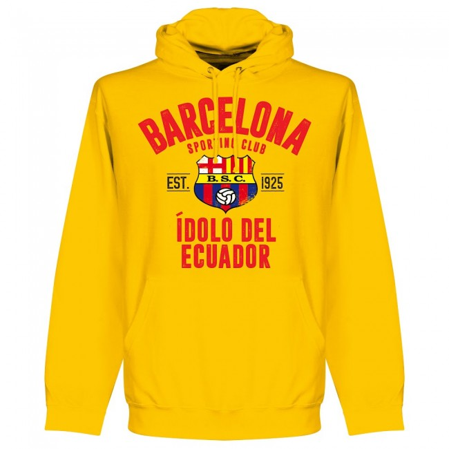 Barcelona Sporting Club Established Hoodie - Yellow - Terrace Gear
