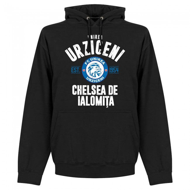 Unirea Urziceni Established Hoodie - Black - Terrace Gear