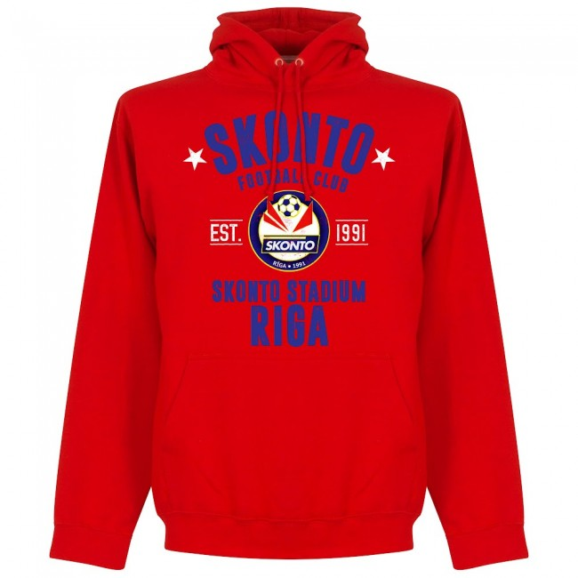 Skonto Riva Established Hoodie - Red - Terrace Gear