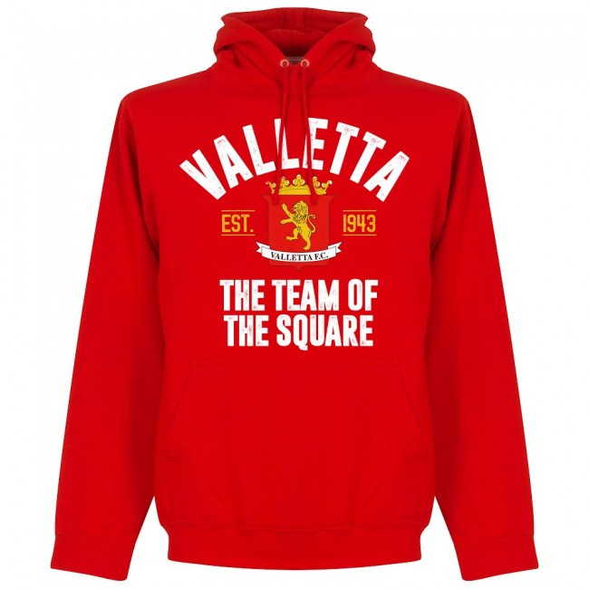 Valletta Established Hoodie - Red - Terrace Gear