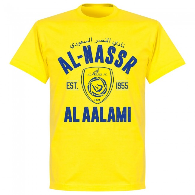 Al-Nassr Established T-Shirt - Lemon Yellow - Terrace Gear
