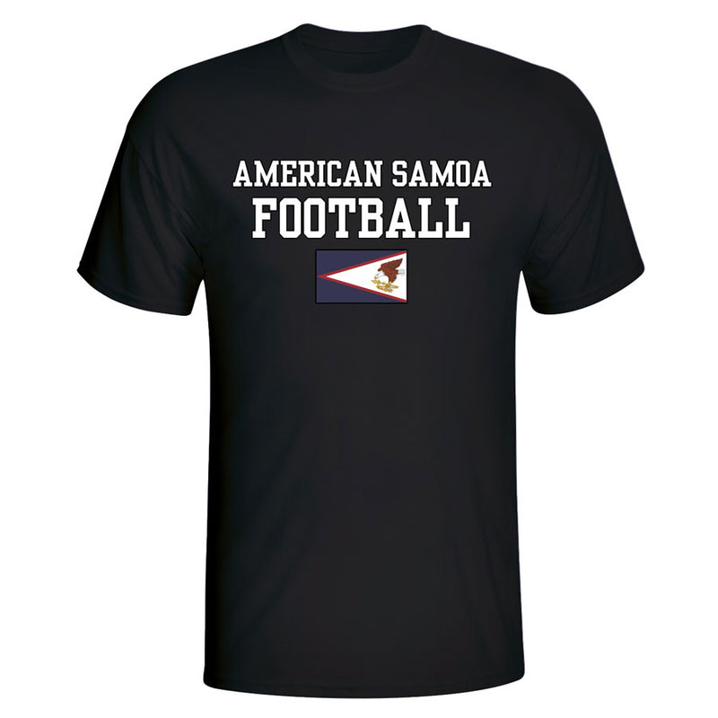 American Samoa Football T-Shirt - Black