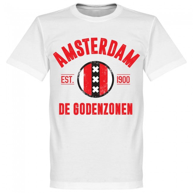 Amsterdam Established T-Shirt - White - Terrace Gear