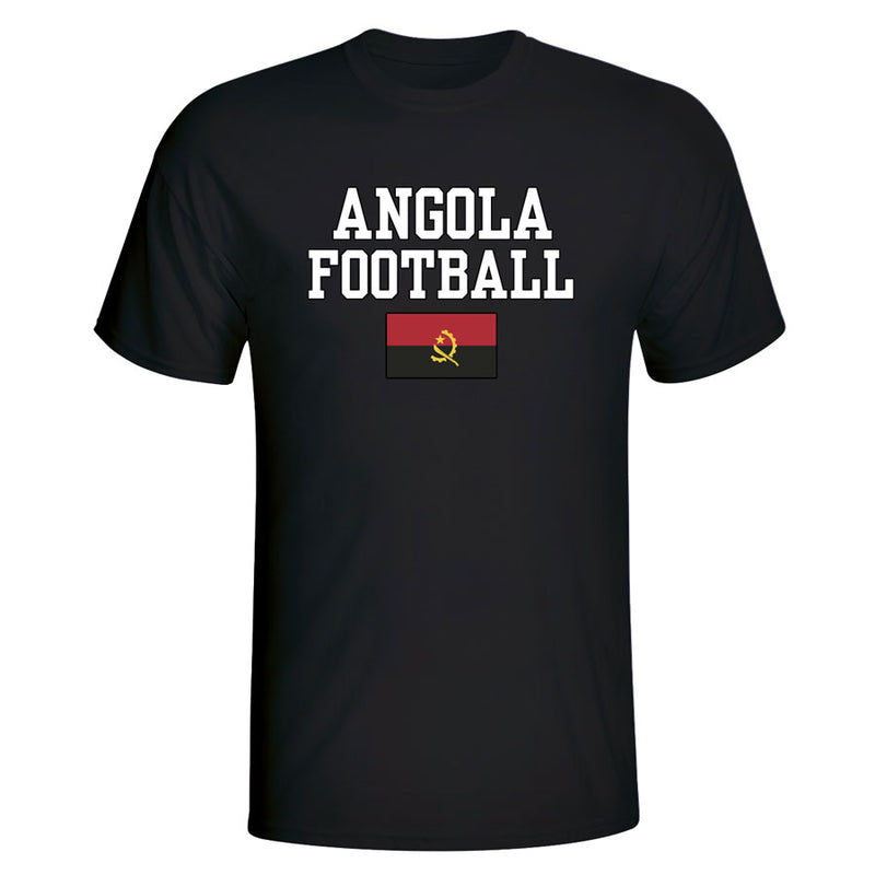 Angola Football T-Shirt - Black