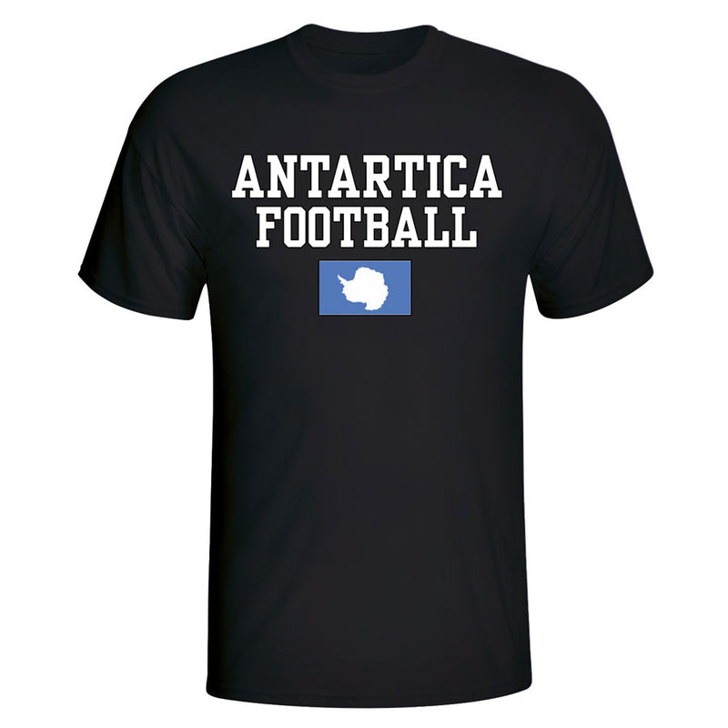 Antartica Football T-Shirt - Black