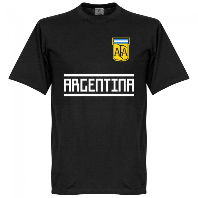 Argentina Team T-Shirt - Black