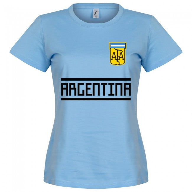 Argentina Team Womens T-Shirt - Sky