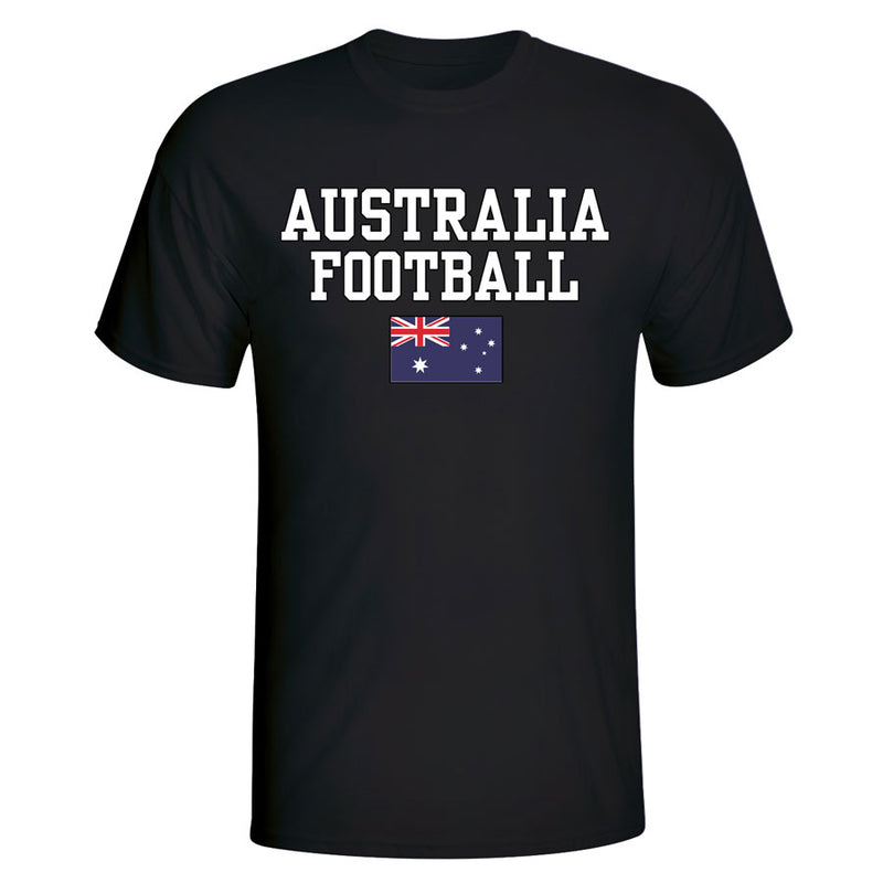 Australia Football T-Shirt - Black