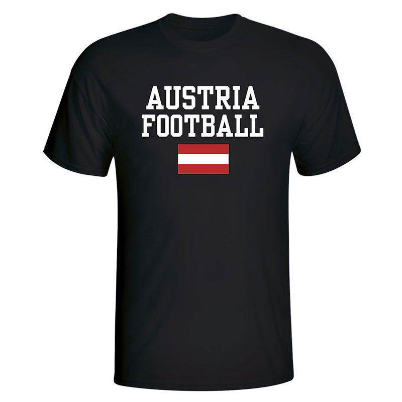 Austria Football T-Shirt - Black