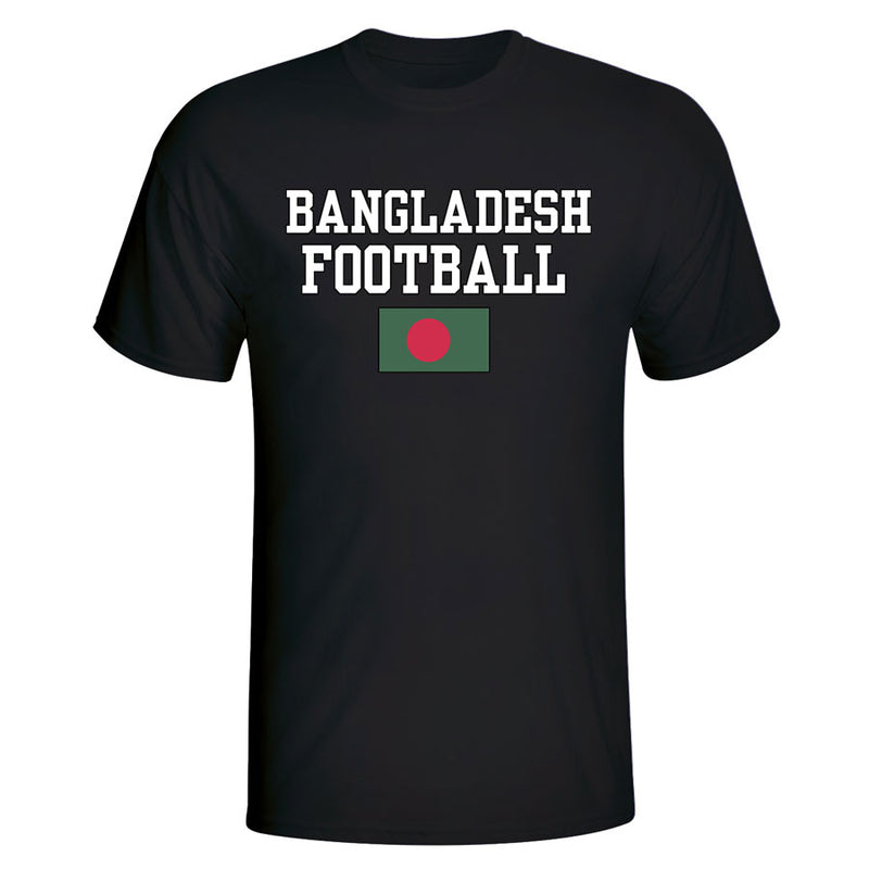 Bangladesh Football T-Shirt - Black