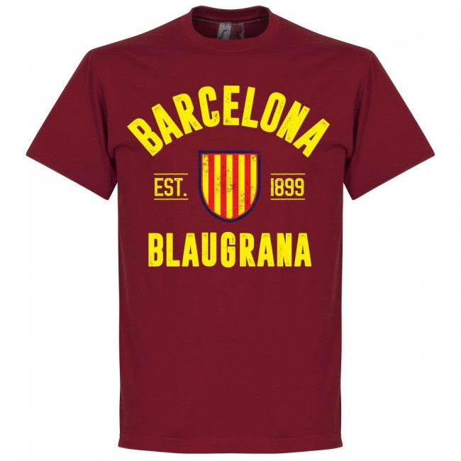 Barcelona Established T-Shirt - Red