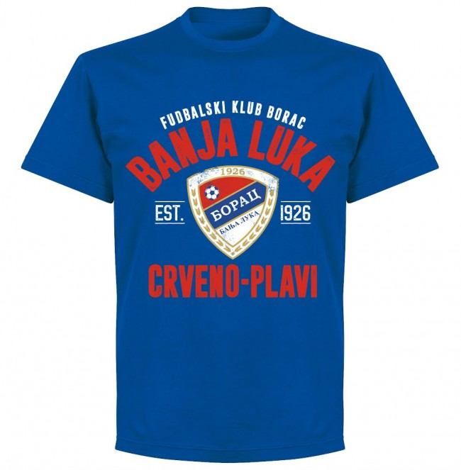 Borac Banja Luka Established T-shirt - Royal - Terrace Gear