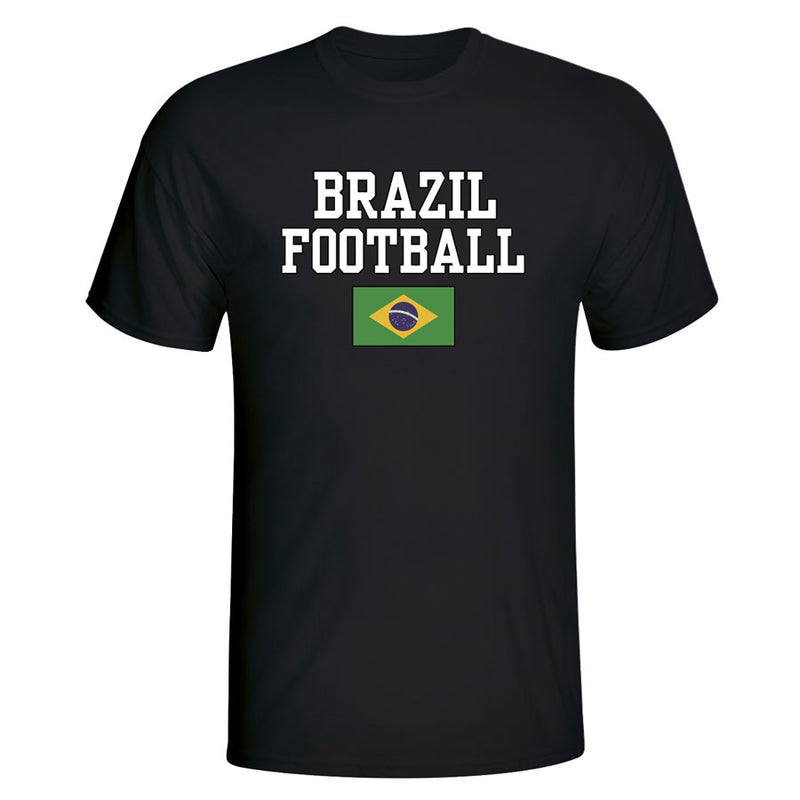 Brazil Football T-Shirt - Black