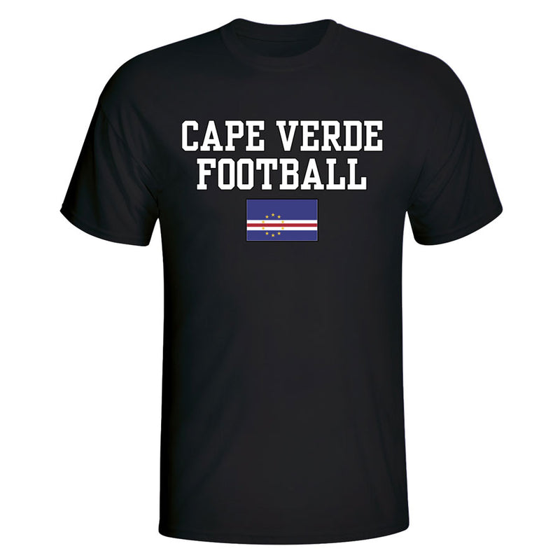 Cape Verde Football T-Shirt - Black