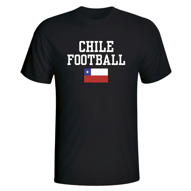 Chile Football T-Shirt - Black
