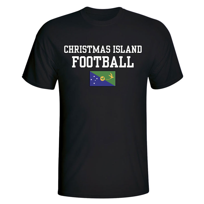 Christmas Island Football T-Shirt - Black