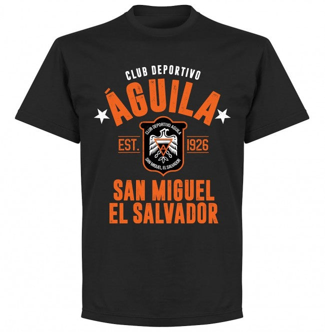Club Deportivo Aguila Established T-shirt - Black - Terrace Gear