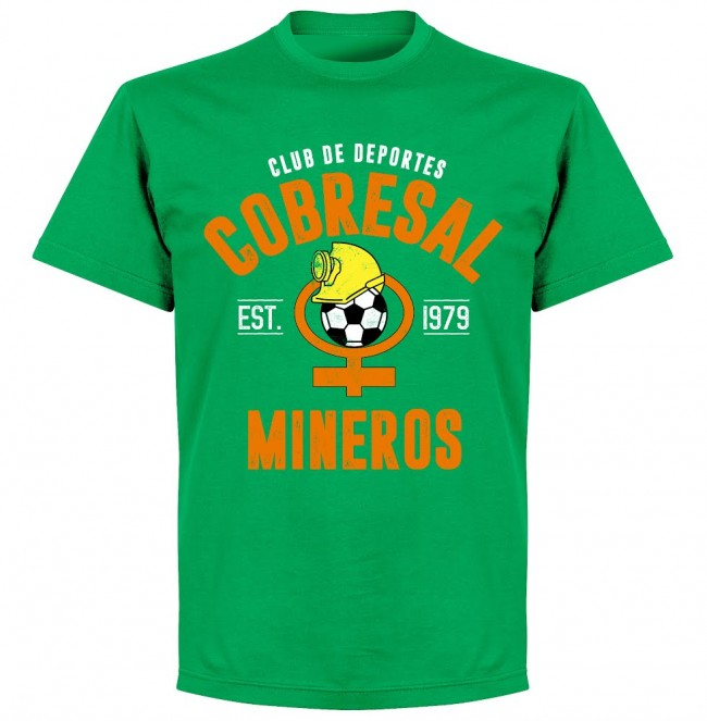 Cobresal Established T-Shirt - Green - Terrace Gear
