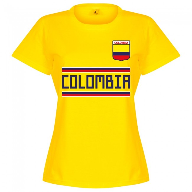 Colombia Team Womens T-Shirt - Yellow