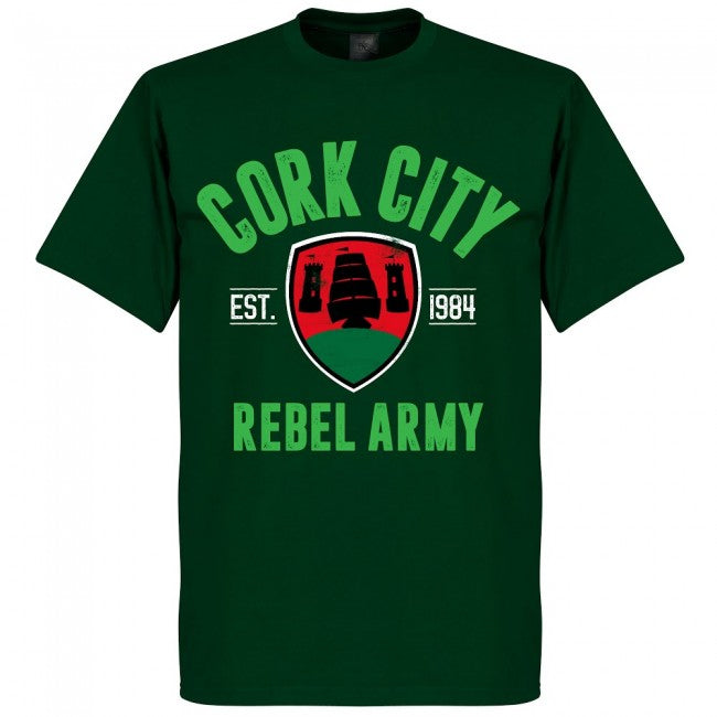 Cork City Established T-Shirt - Bottle Green