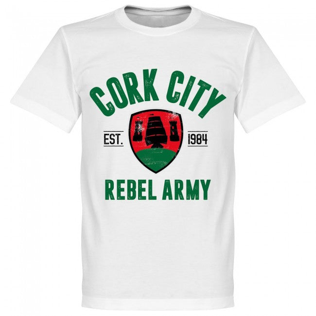 Cork City Established T-Shirt - White - Terrace Gear