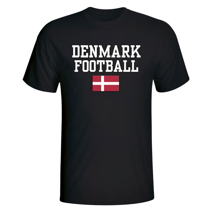 Denmark Football T-Shirt - Black