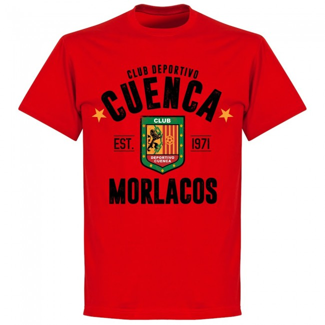 Deportivo Cuenca Established T-shirt - Red - Terrace Gear