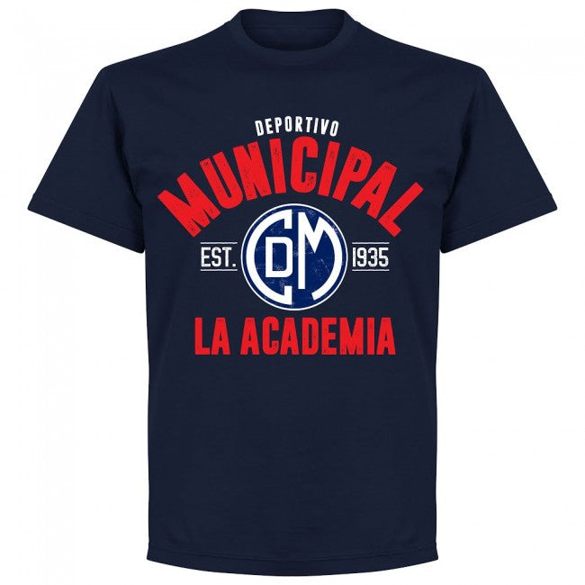Deportivo Municipal Established T-Shirt - Navy - Terrace Gear