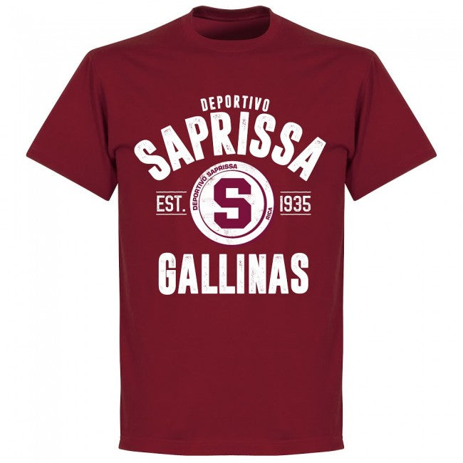 Deportivo Saprissa Established T-shirt - Chilli - Terrace Gear